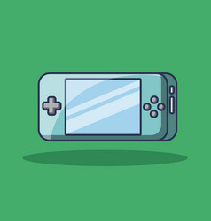 portable game pad device technology icon vector image