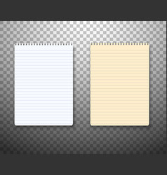 Realistic paper notepad notebook set vector