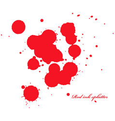 Red ink splatter on white vector