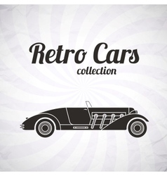 Retro cabriolet sport car vintage collection vector