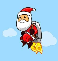 Santa jetpack vector