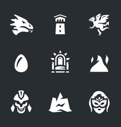 set of fantasy story icons vector image vector image