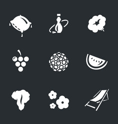 set of hookah icons vector image vector image