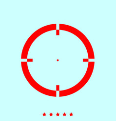 Sight set it is color icon vector