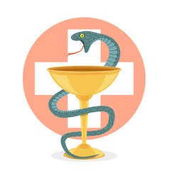 snake and bowl vector image