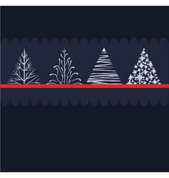 Stylised christmas trees vector