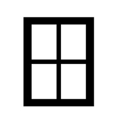 window the black color icon vector image