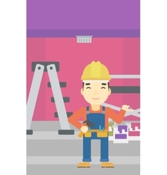 Cheerful repairer engineer vector