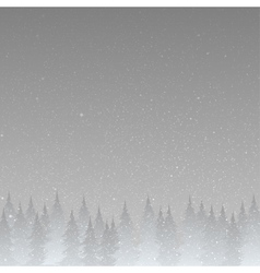 Grey silhouette of trees on a gray background vector