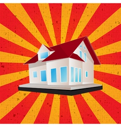 Retro style house graphic vector image