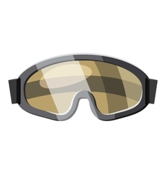 Protective goggles for paintball icon vector