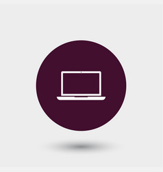Laptop icon simple vector