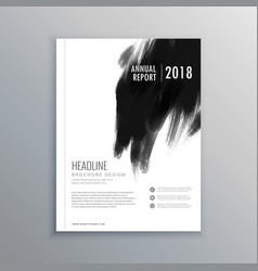 Creative business magazine cover page layout with vector