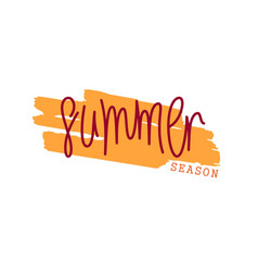 summer season vector image