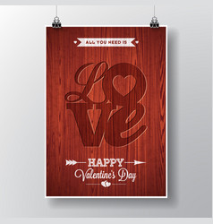 Flyer on a valentines day vector