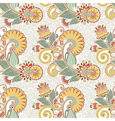 ornate seamless flower paisley design vector image