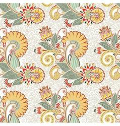 Ornate seamless flower paisley design vector