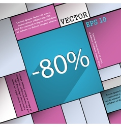 80 percent discount icon symbol flat modern web vector