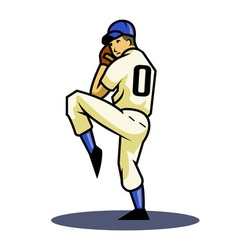 Pitcher vector image