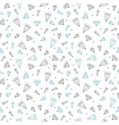 Cute seamless pattern with diamonds hand drawn vector