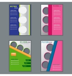 Set of vertical flyers for design vector