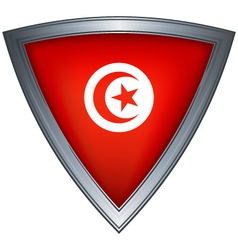 Steel shield tunisia vector