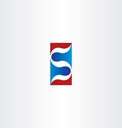 Red blue logo letter s logotype s icon element vector