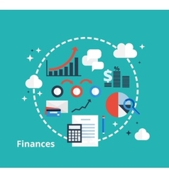 Finance and accounting concept for your design vector