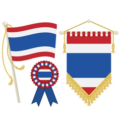 Thailand flags vector