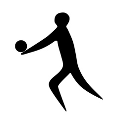 Athlete man volleyball player silhouette vector