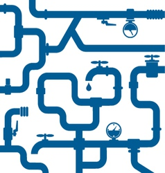 background of water pipeline vector image