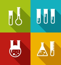 Chemical Test Tubes vector image vector image