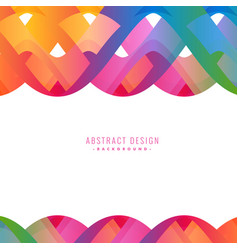 Colorful abstract wavy background design vector