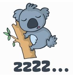 cute koala for t-shirt design vector image vector image