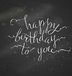 Happy birthday chalk lettering vector