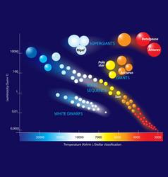 Hertzsprung-russell diagram vector