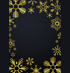 merry christmas and happy new year glod vector image vector image