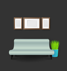 Modern business conversation room mockup template vector