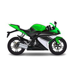Motorcycle green sport bike vector