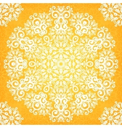 Ornate vintage yellow lacy seamless pattern vector image vector image