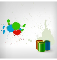 paint splash vector image