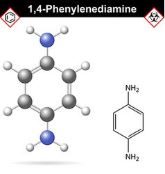 Para Phenylenediamine chemical structure vector image vector image