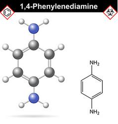 Para phenylenediamine chemical structure vector