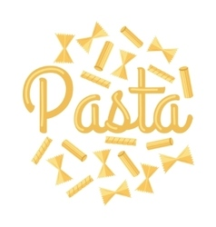 Pasta Concept in Flat Design vector image vector image
