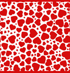 Red purple heart seamless pattern of the icons vector