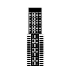 silhouette of a building facade skyscraper image vector image vector image