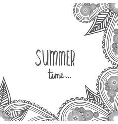 summer time - hand drawn brush text handmade vector image