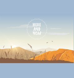 Sunset in the mountains vector