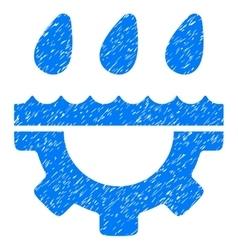 Water gear drops grainy texture icon vector
