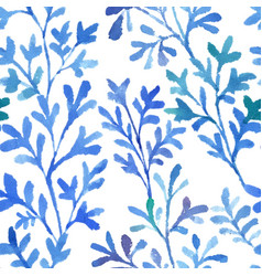Watercolor blue flora vector